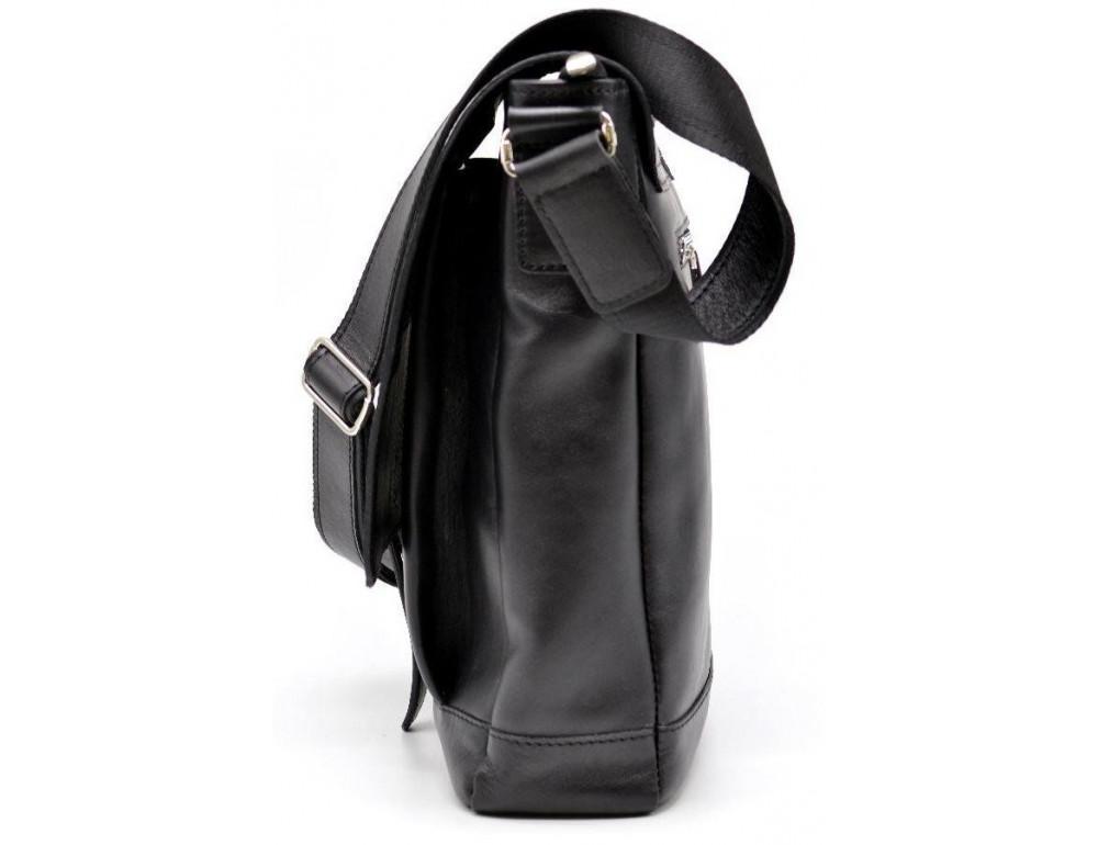 Чёрная стильная сумка на плечо формата A4 TARWA GA-1811-4lx - Фото № 3