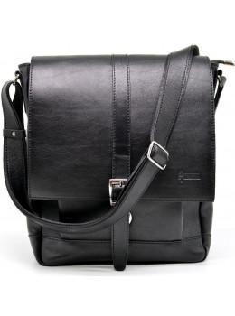 Чёрная стильная сумка на плечо формата A4 TARWA GA-1811-4lx