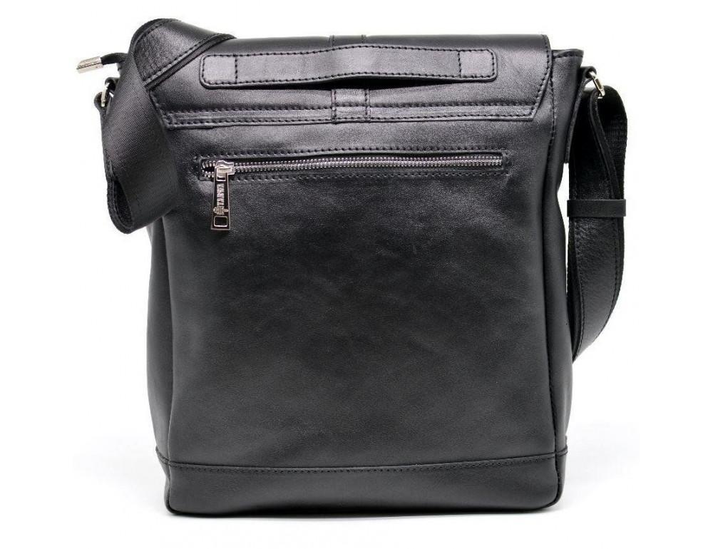 Чёрная стильная сумка на плечо формата A4 TARWA GA-1811-4lx - Фото № 4