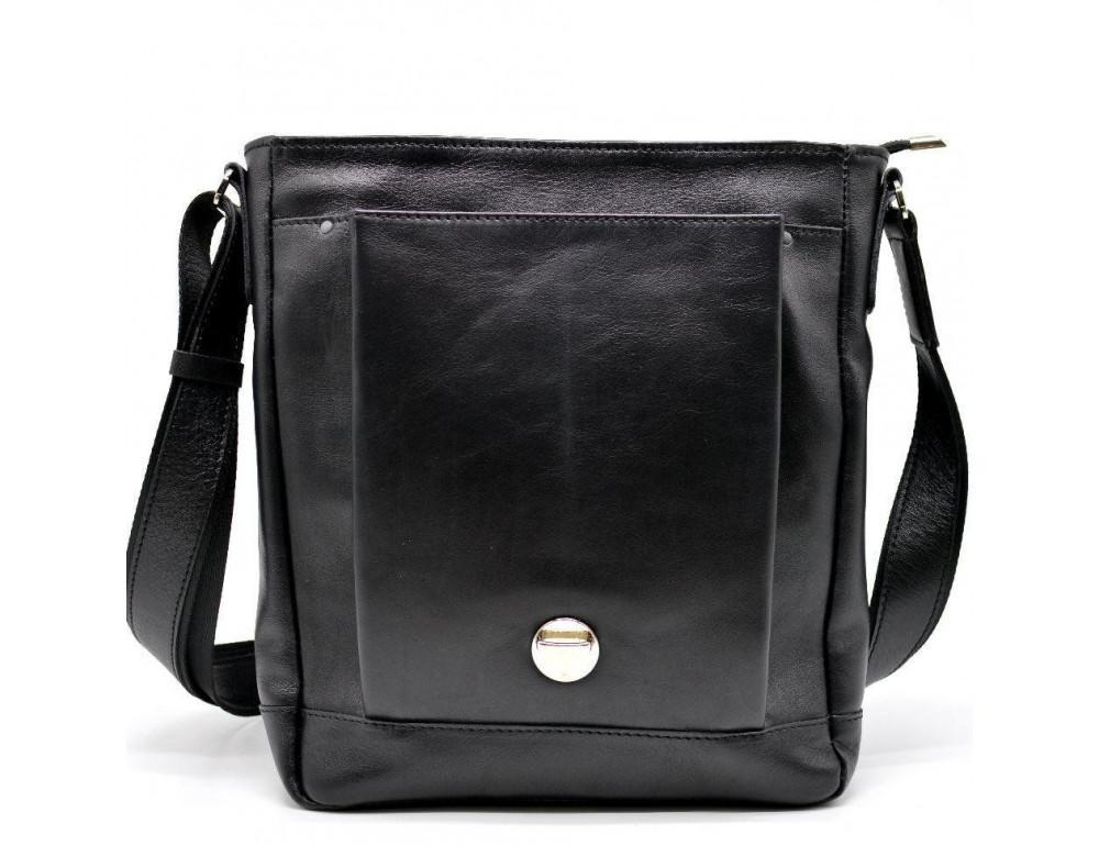 Чёрная стильная сумка на плечо формата A4 TARWA GA-1811-4lx - Фото № 5