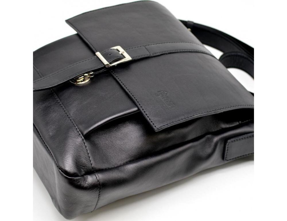 Чёрная стильная сумка на плечо формата A4 TARWA GA-1811-4lx - Фото № 6