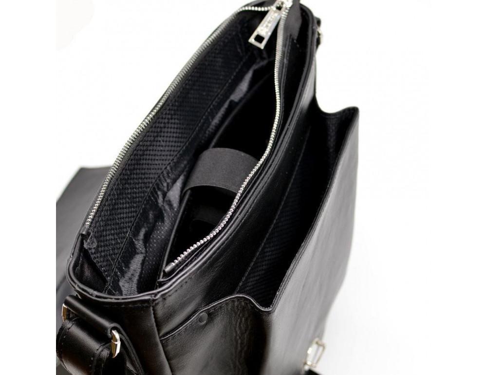 Чёрная стильная сумка на плечо формата A4 TARWA GA-1811-4lx - Фото № 10