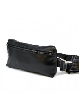 Чорна шкіряна сумка на пояс TARWA GA-1818-3md