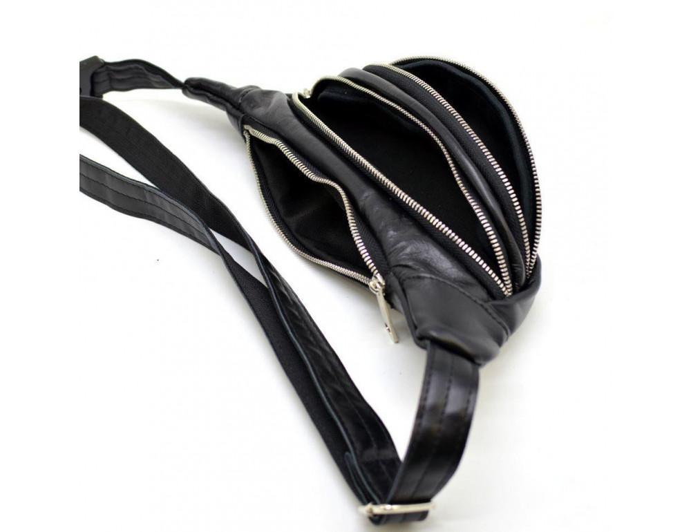 Чорна шкіряна сумка на пояс Tarwa GA-2406-4lx - Фотографія № 4