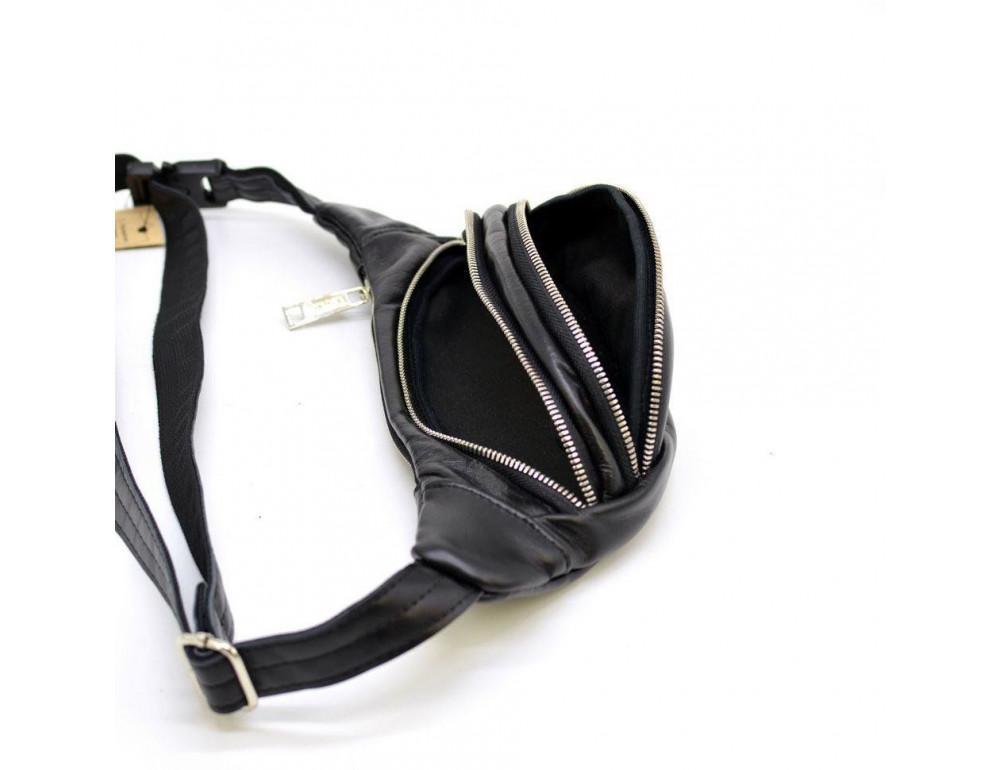 Чорна шкіряна сумка на пояс Tarwa GA-2406-4lx - Фотографія № 6