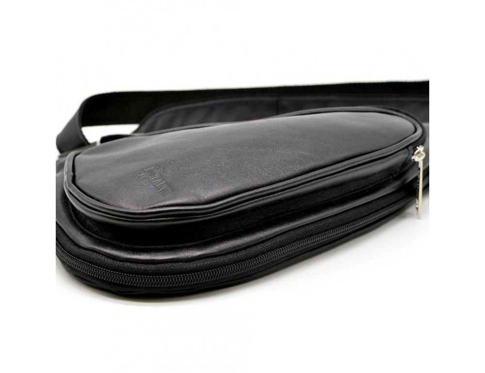 Чёрный кожаный рюкзак на одно плечо Tarwa GA-3026-3md - Фото № 8