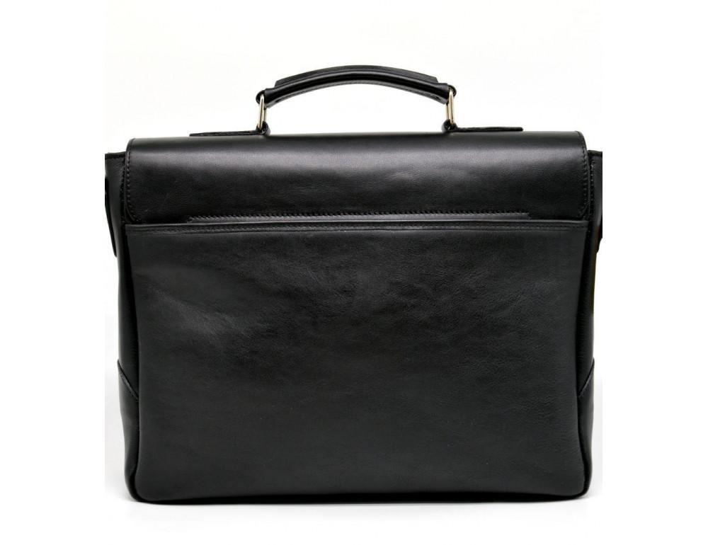 Чёрная кожаная сумка на два отделения TARWA GA-3960-4lx - Фото № 6