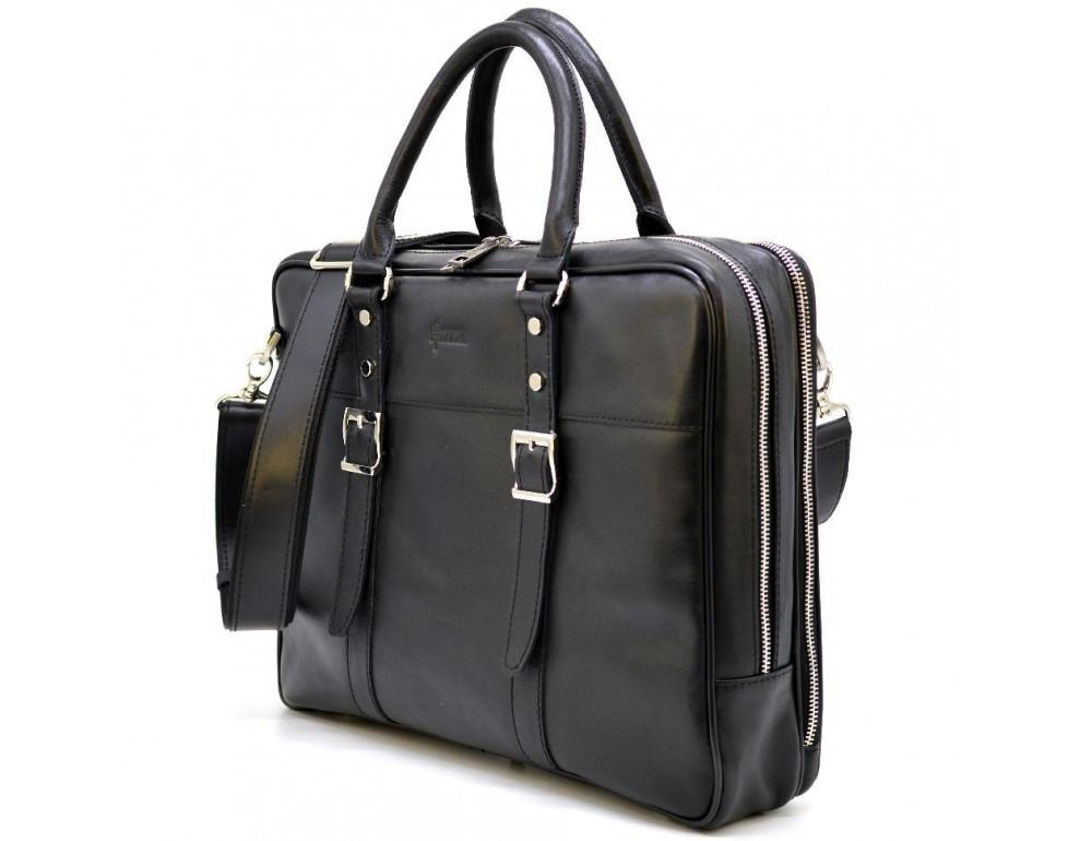 Чёрная мужская сумка на два отделения TARWA GA-4767-4lx
