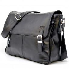 Чорна сумка з натуральної шкіри через плече TARWA GA-7022-3md