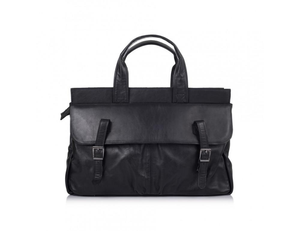 Чорний шкіряний портфель TARWA GA-7107-1md - Фотографія № 2