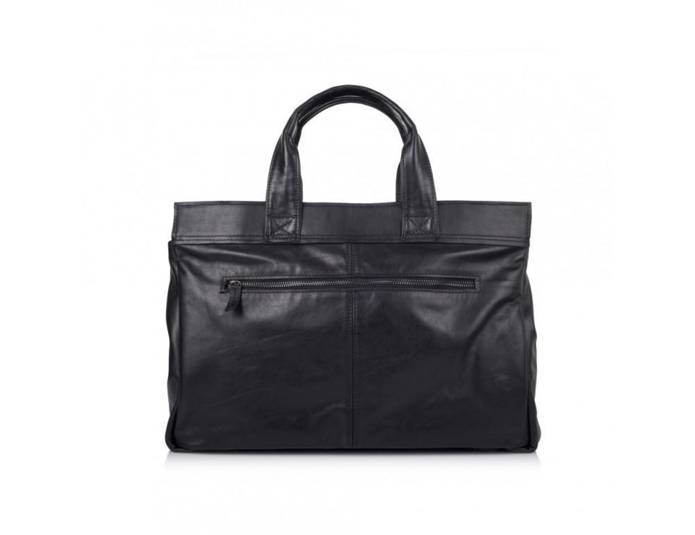 Чорний шкіряний портфель TARWA GA-7107-1md - Фотографія № 3