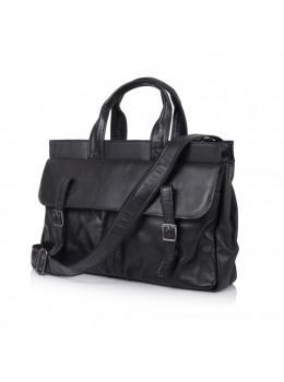 Чорний шкіряний портфель TARWA GA-7107-1md