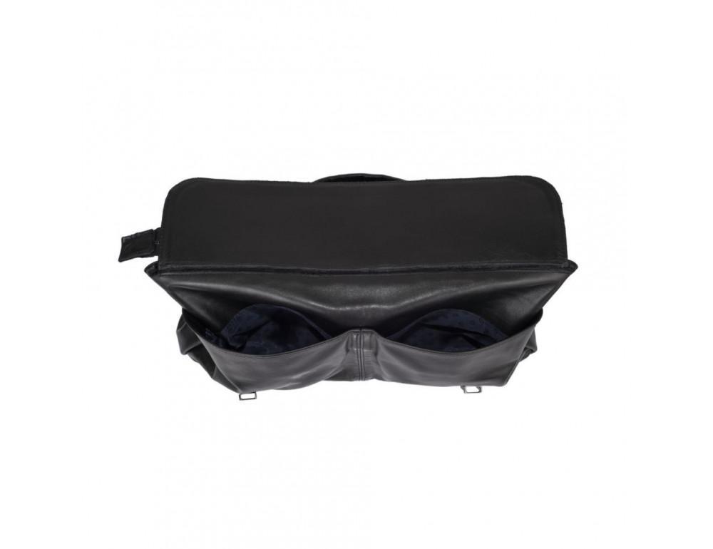 Чорний шкіряний портфель TARWA GA-7107-1md - Фотографія № 4