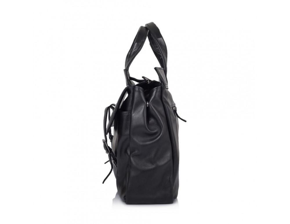 Чорний шкіряний портфель TARWA GA-7107-1md - Фотографія № 5