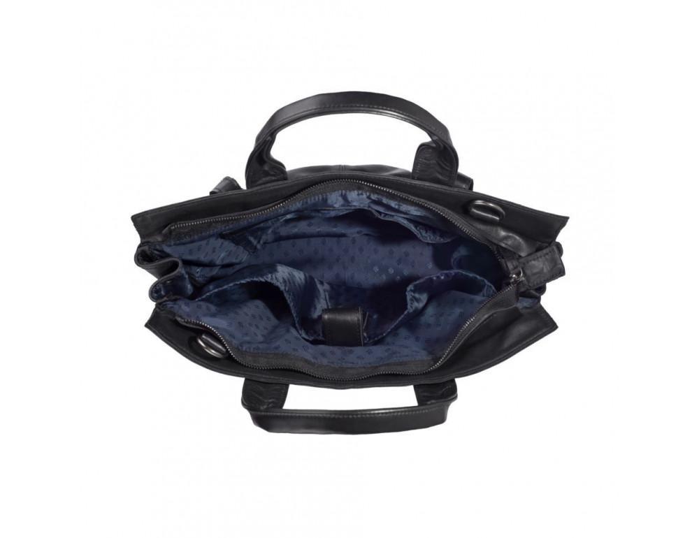 Чорний шкіряний портфель TARWA GA-7107-1md - Фотографія № 7