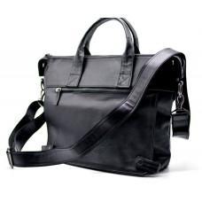 Чёрная кожаная сумка для документов TARWA GA-7120-1md