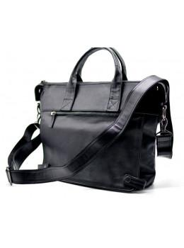 Чорна шкіряна сумка для документів TARWA GA-7120-1md
