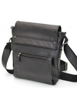 Чорна чоловіча шкіряна сумка через плече TARWA GA-7121-1md