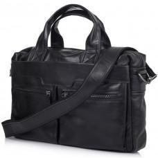 Чёрный кожаный портфель для диагонали 14 дюймов TARWA GA-7122-3md