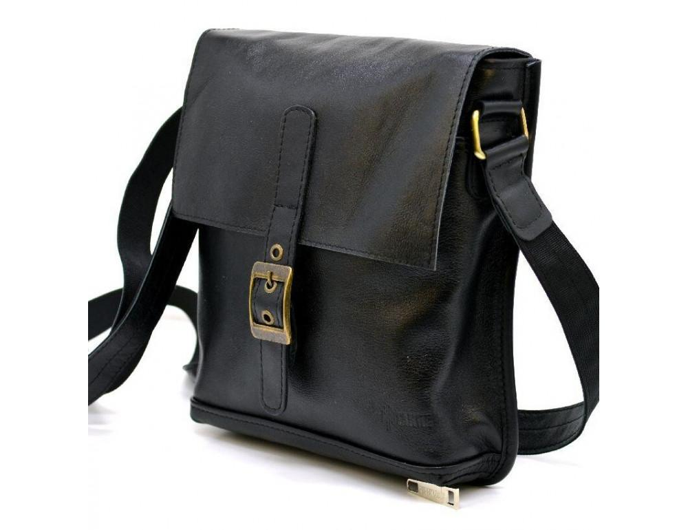 Чёрная кожаная сумка через плечо TARWA GA-7157-3md - Фото № 1