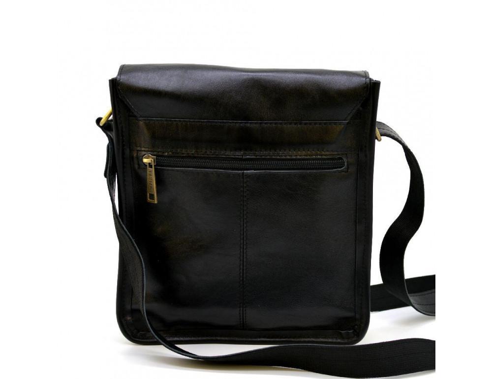Чёрная кожаная сумка через плечо TARWA GA-7157-3md - Фото № 5