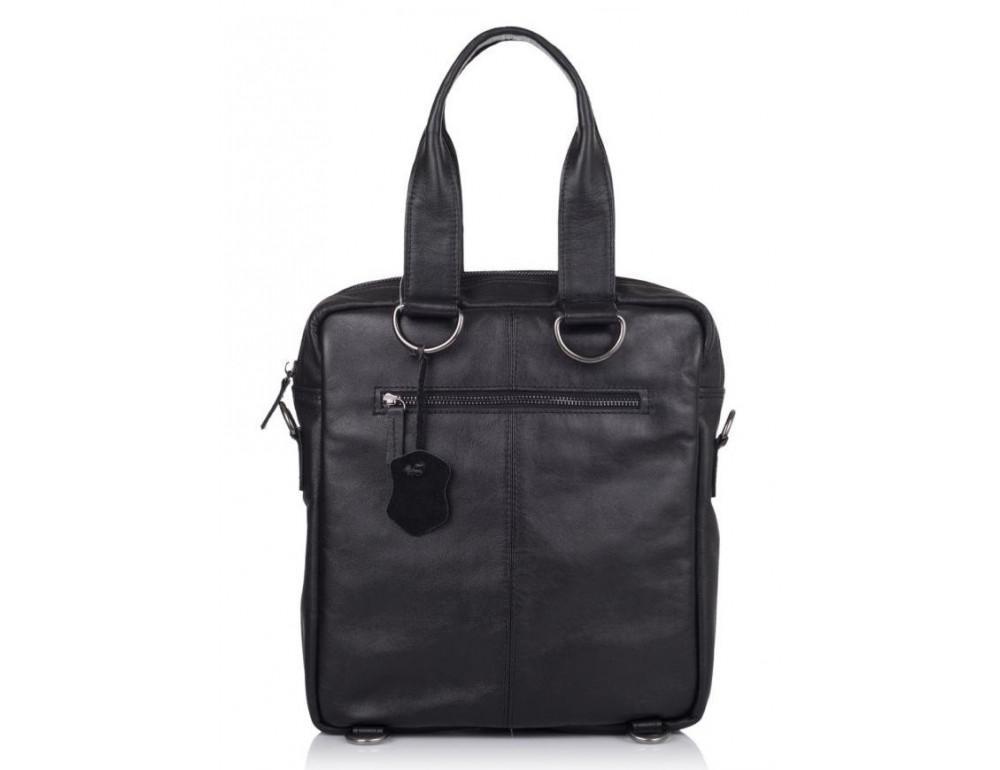 Чёрная кожаная сумка - трансформер TARWA GA-7266-2md - Фото № 2