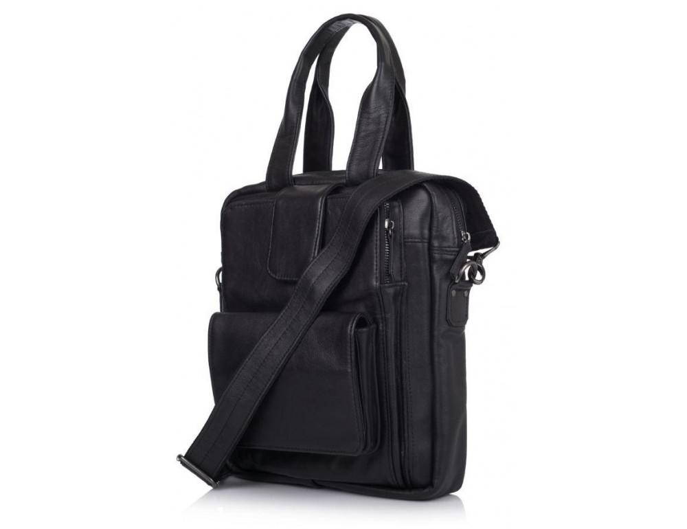 Чёрная кожаная сумка - трансформер TARWA GA-7266-2md - Фото № 1