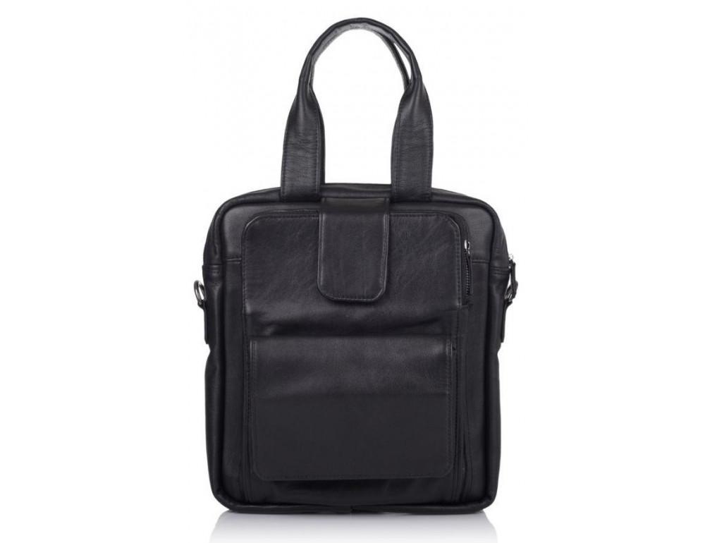 Чёрная кожаная сумка - трансформер TARWA GA-7266-2md - Фото № 3
