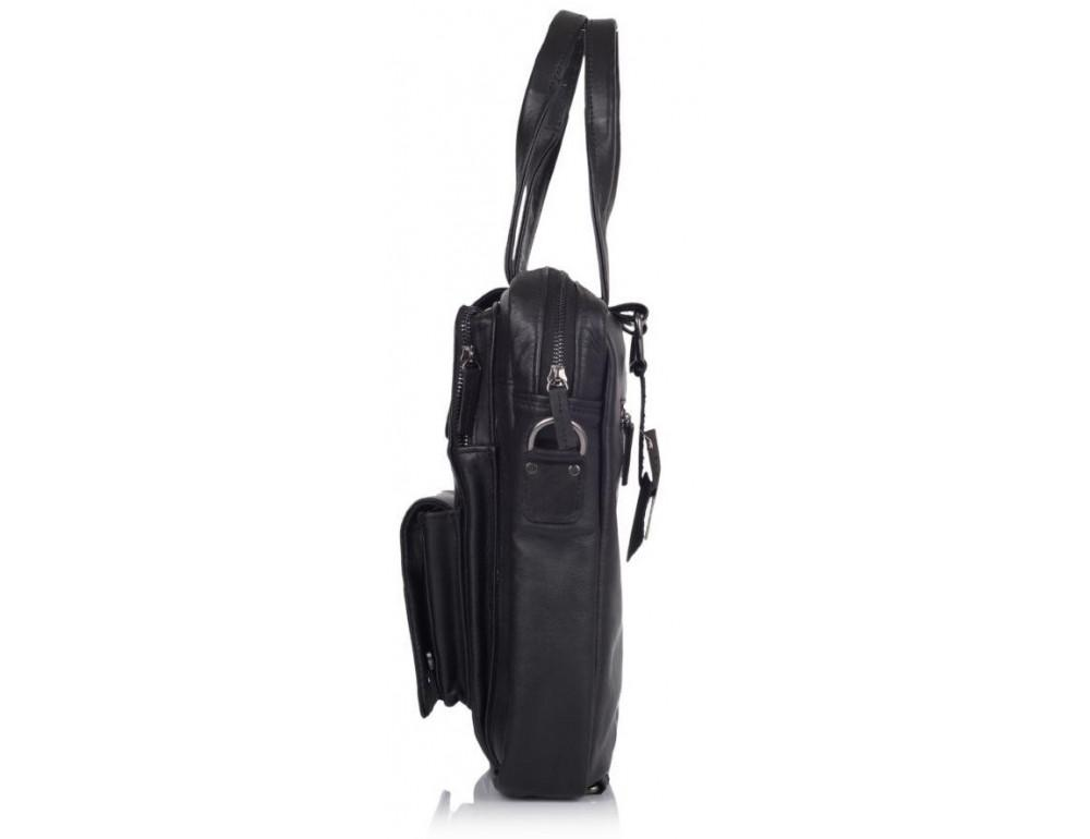 Чёрная кожаная сумка - трансформер TARWA GA-7266-2md - Фото № 4