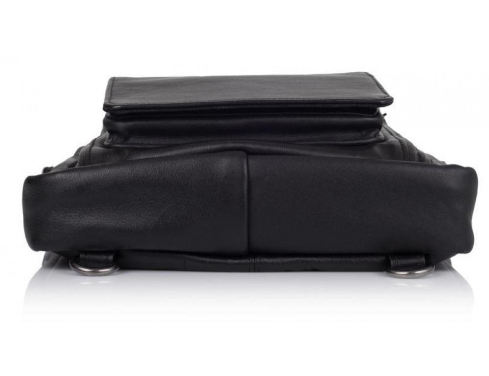 Чёрная кожаная сумка - трансформер TARWA GA-7266-2md - Фото № 5