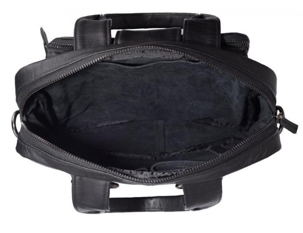 Чёрная кожаная сумка - трансформер TARWA GA-7266-2md - Фото № 6