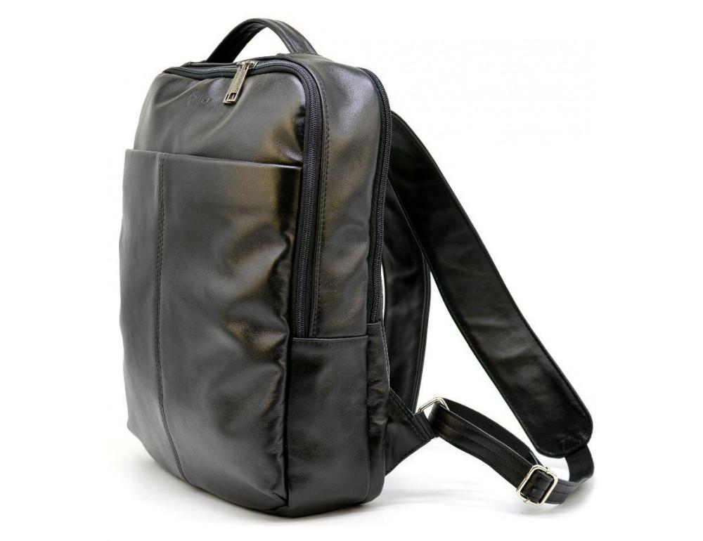 Чёрный городской рюкзак из гладкой кожи TARWA ga-7280-3md - Фото № 1