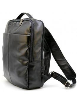 Чорний міської рюкзак з гладкої шкіри TARWA ga-7280-3md