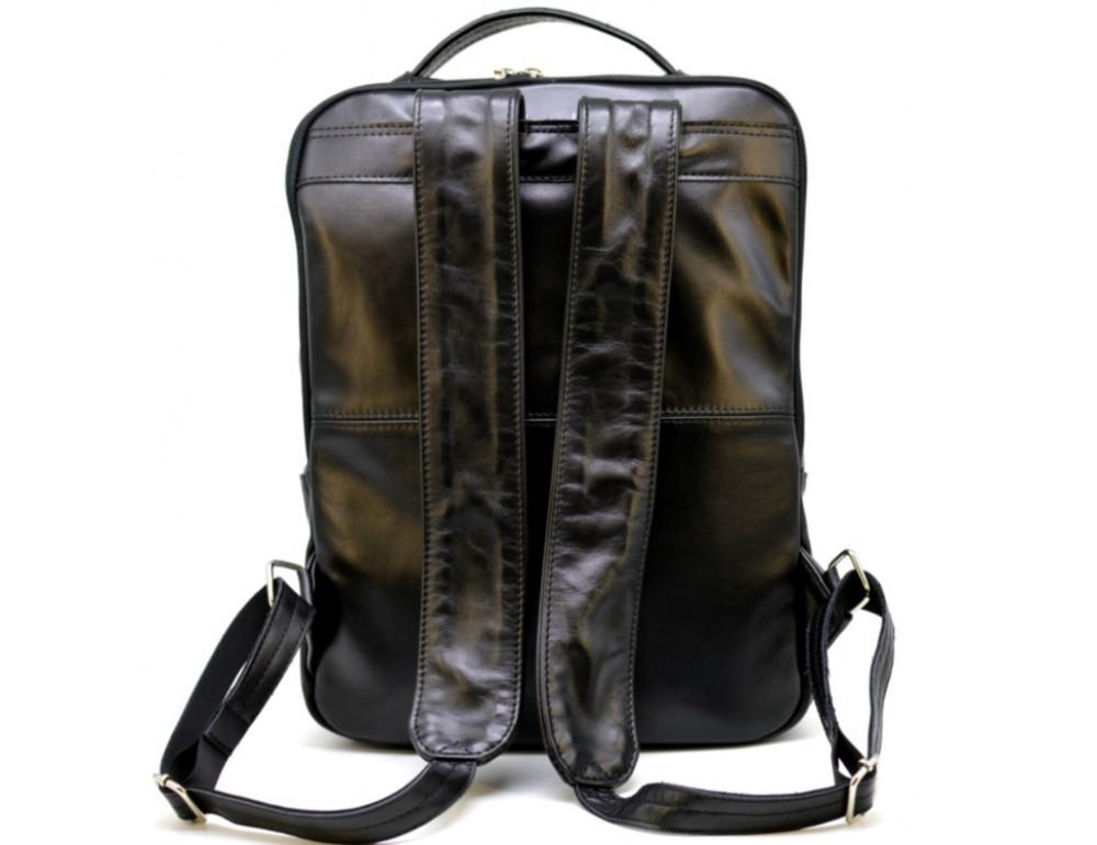 Чёрный кожаный рюкзак на два отделения TARWA GA-7284-3md - Фото № 2