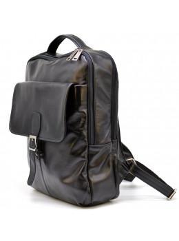 Чорний шкіряний рюкзак на два відділення TARWA GA-7284-3md