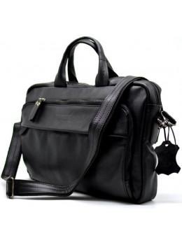 Чорна шкіряна сумка під документи TARWA GA-7334-1md