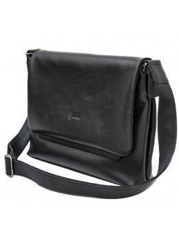 Чёрная кожаная сумка на плечо TARWA GA-7778-4lx