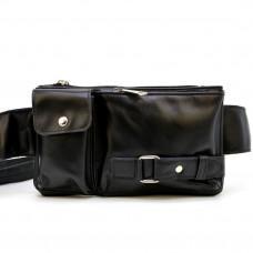 Кожаная сумка на пояс GA-8135-3md Tarwa черныая