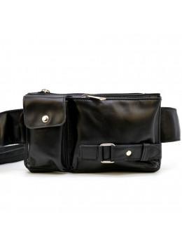 Шкіряна сумка на пояс GA-8135-3md Tarwa черниая