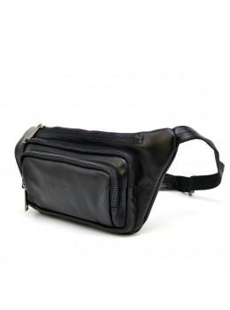 Черная напоясная кожаная сумка TARWA GA-8179-3md