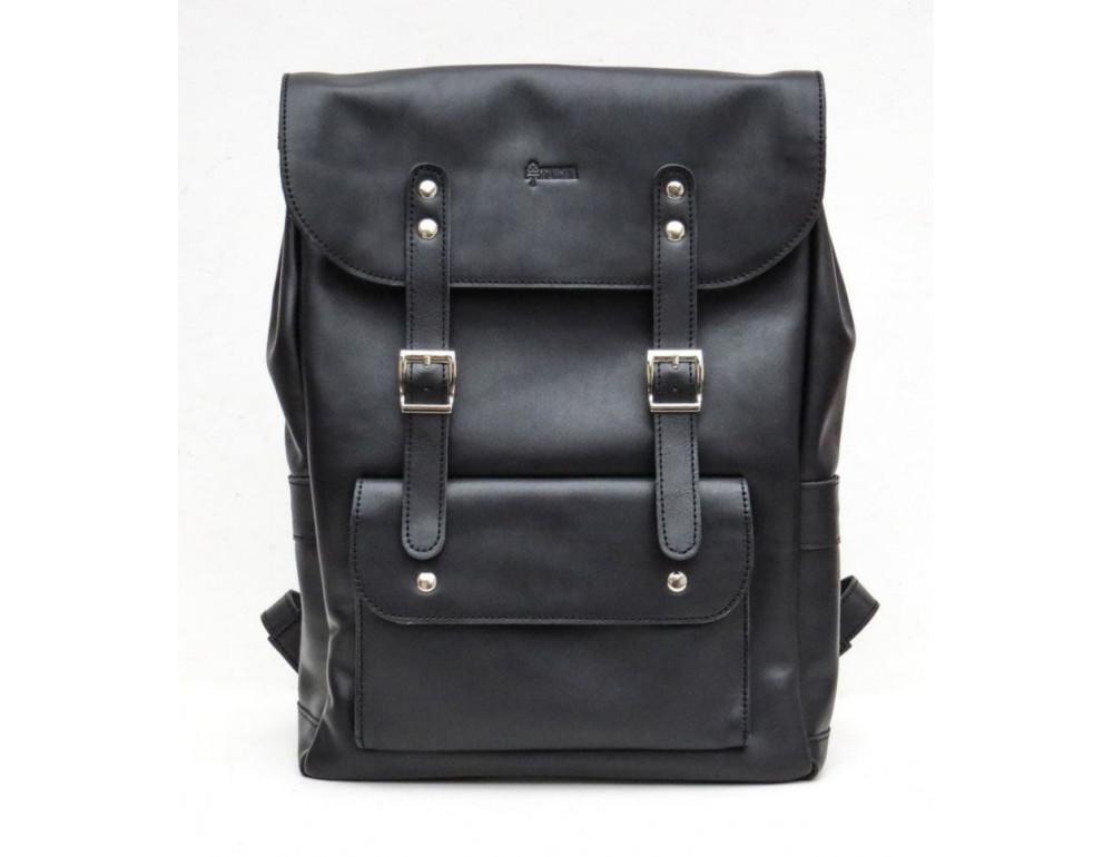 Чёрный мужской рюкзак из лошадиной кожи TARWA GA-9001-4lx - Фото № 2