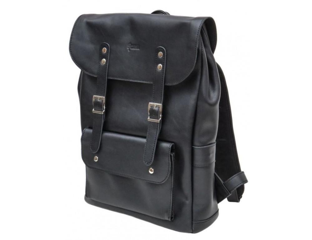 Чёрный мужской рюкзак из лошадиной кожи TARWA GA-9001-4lx - Фото № 1