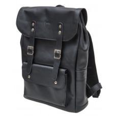 Чорний чоловічий рюкзак з кінської шкіри TARWA GA-9001-4lx
