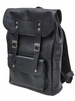 Чёрный мужской рюкзак из лошадиной кожи TARWA GA-9001-4lx