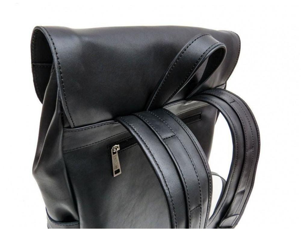 Чёрный мужской рюкзак из лошадиной кожи TARWA GA-9001-4lx - Фото № 4