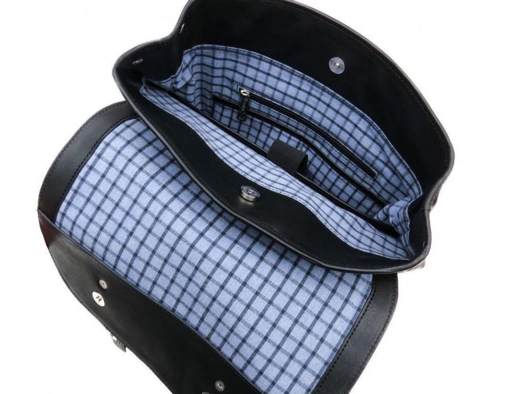 Чёрный мужской рюкзак из лошадиной кожи TARWA GA-9001-4lx - Фото № 7