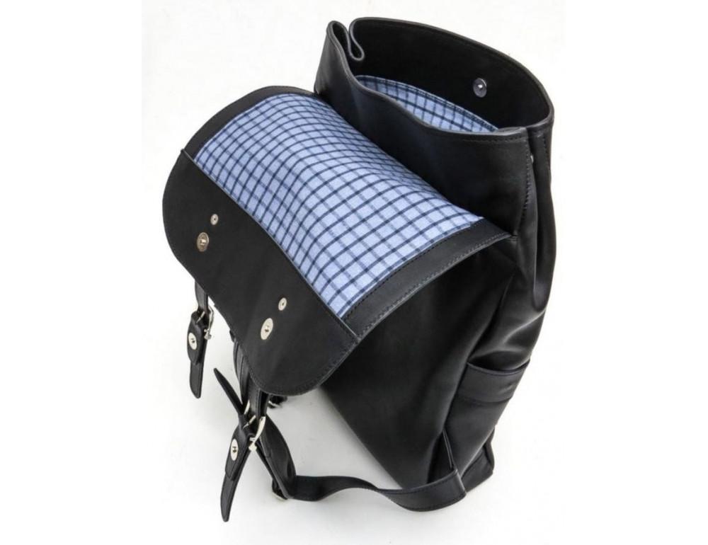 Чёрный мужской рюкзак из лошадиной кожи TARWA GA-9001-4lx - Фото № 10