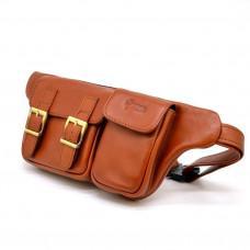 Чоловіча шкіряна сумка на пояс GB-3029-4lx TARWA руда