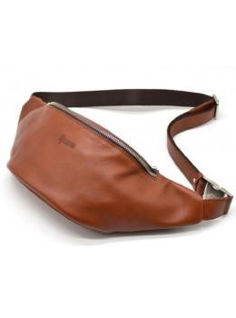 Рыжая кожаная сумка на пояс TARWA GB-3036-4lx