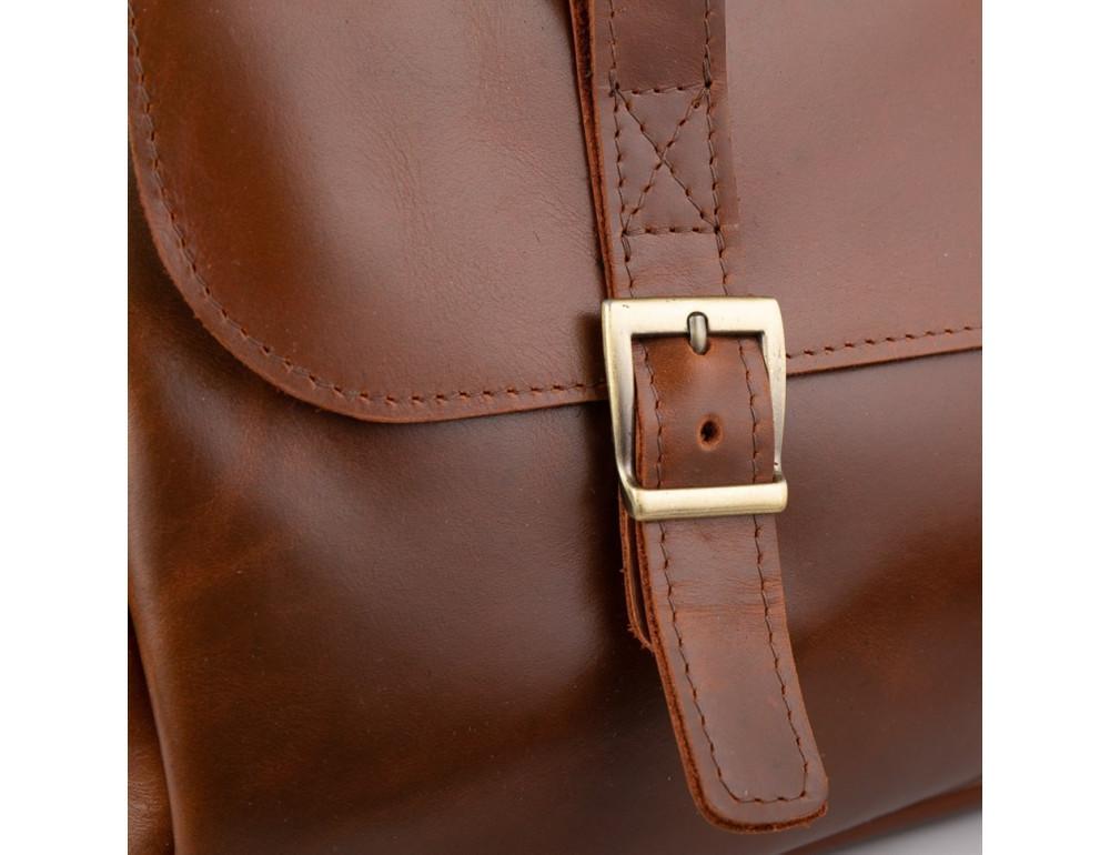 Рыжий кожаный портфель на 16.4 дюйма TARWA GB-7107-3md - Фото № 4